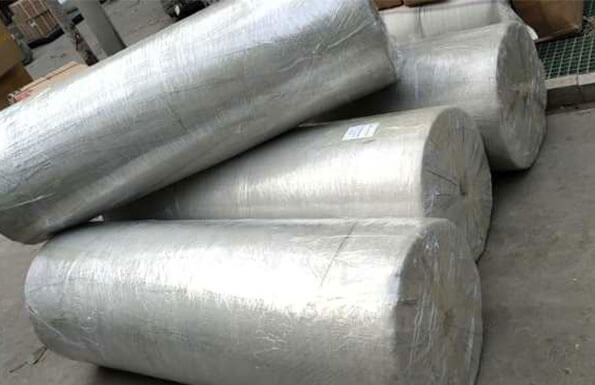 We delivery 4 rolls material today